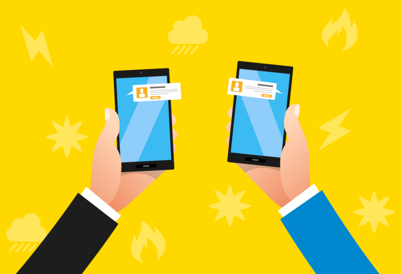 従業員の安否を双方向SMSで確認